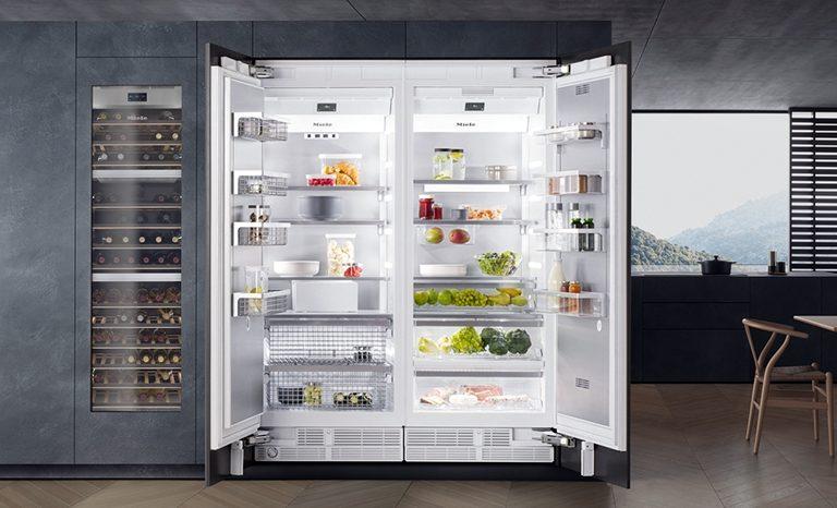 Side by side Miele fridge repairs